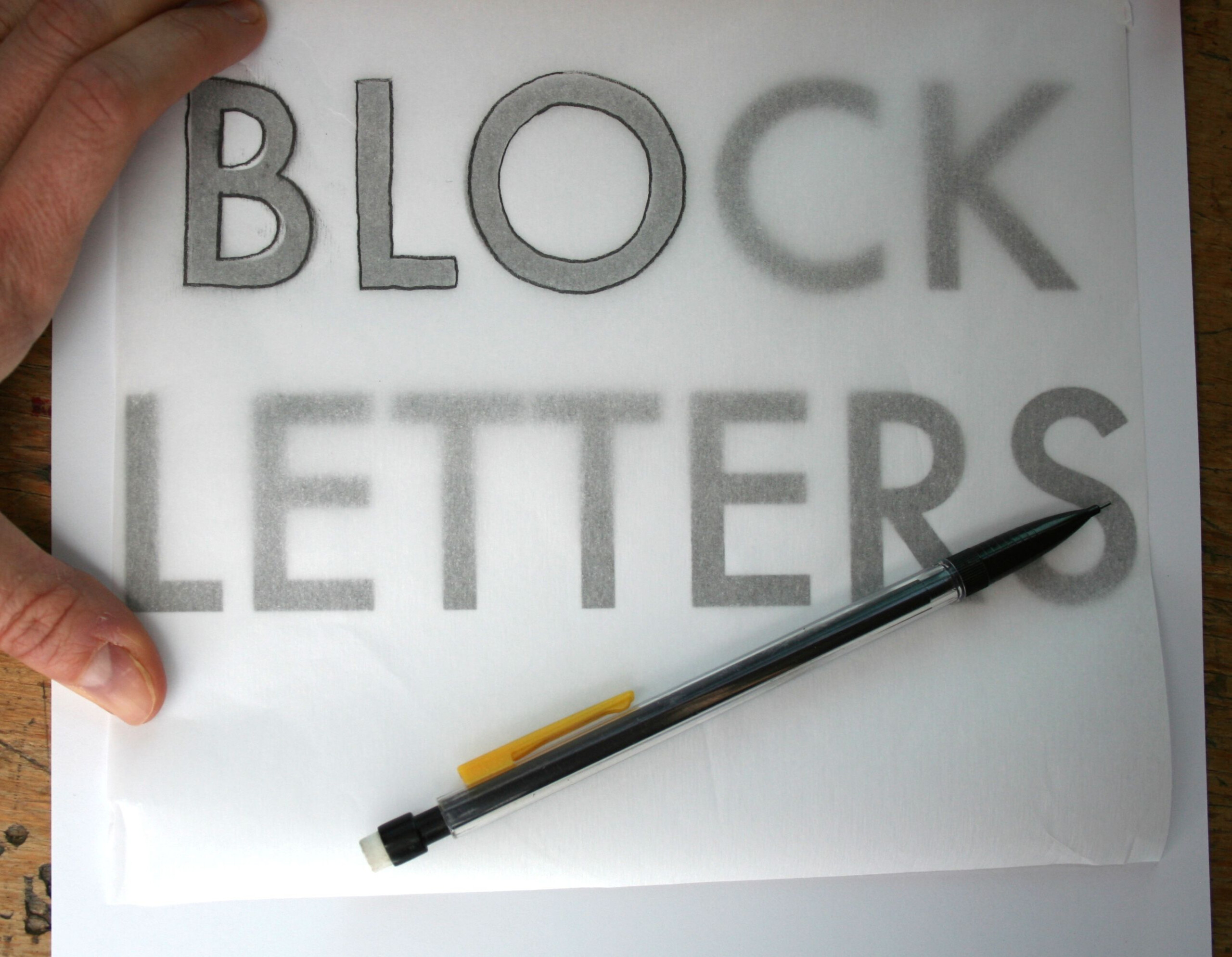 Drawing Block Letters Is So Easy, You May Never Buy Another