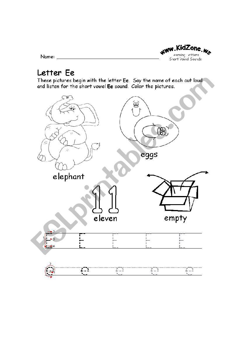 E-H Tracing Worksheet - Esl Worksheetclozzaa