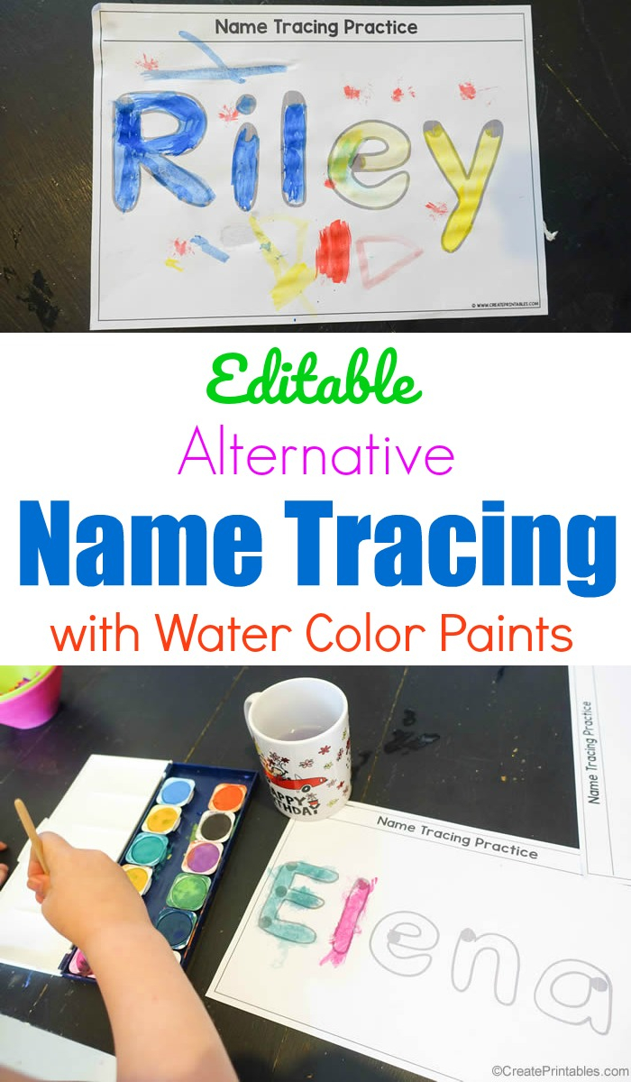 Editable Alternative Name Tracing With Paint - Create Printables