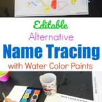 Editable Alternative Name Tracing With Paint | Preschool