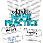 Editable Name Practice Sheets | Name Practice, Practice