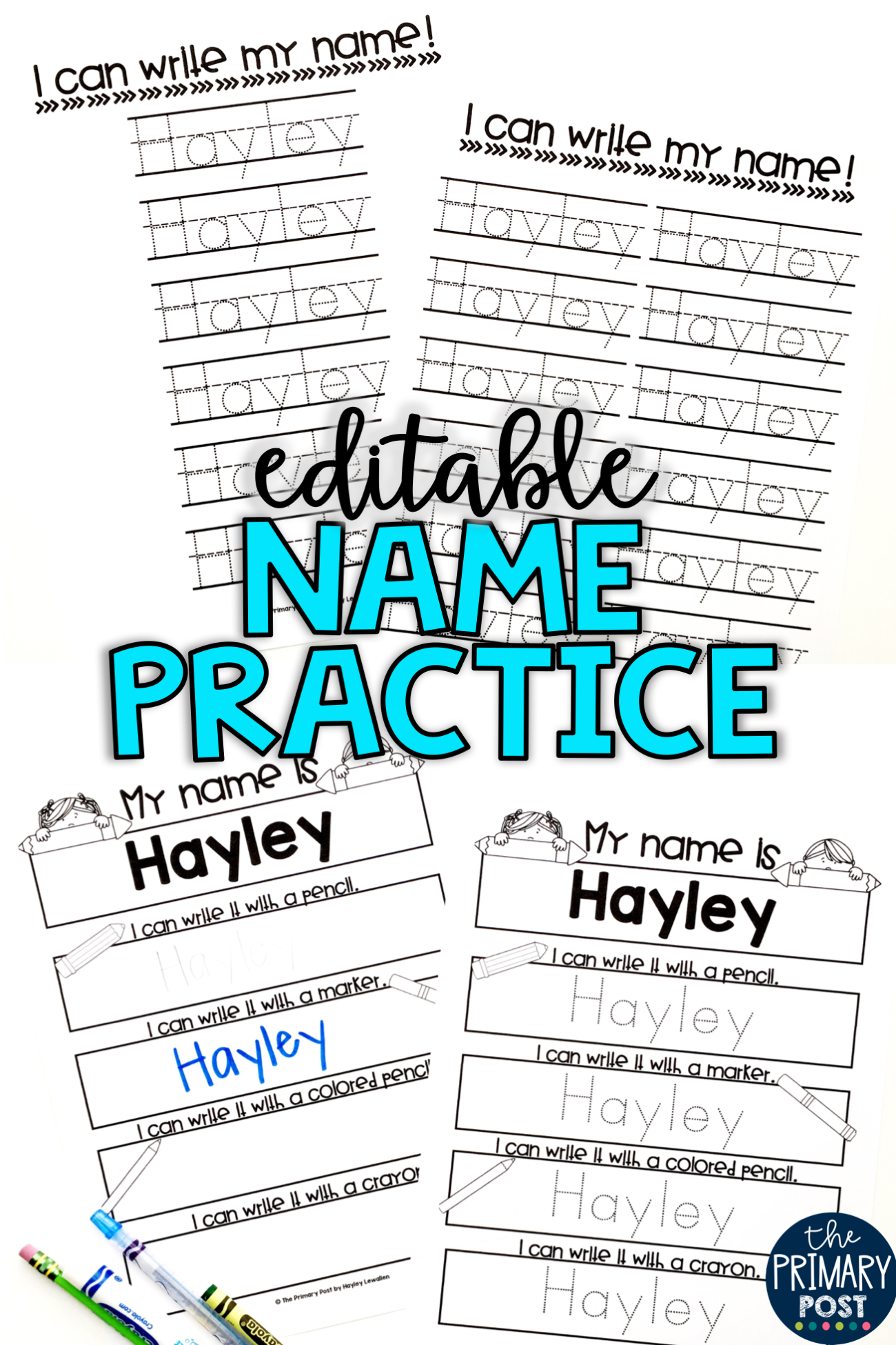 Editable Name Practice Sheets   Name Practice, Practice
