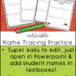 Editable Name Practice (With Images)   Name Writing Practice