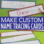 Editable Name Tracing Cards | Name Writing Activities For