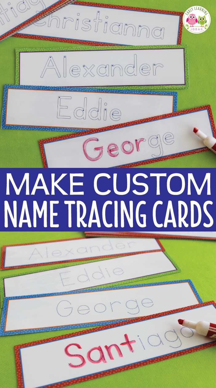 Editable Name Tracing Cards   Name Writing Activities For