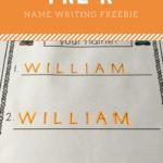 Editable Name Tracing Practice Freebie | Name Writing