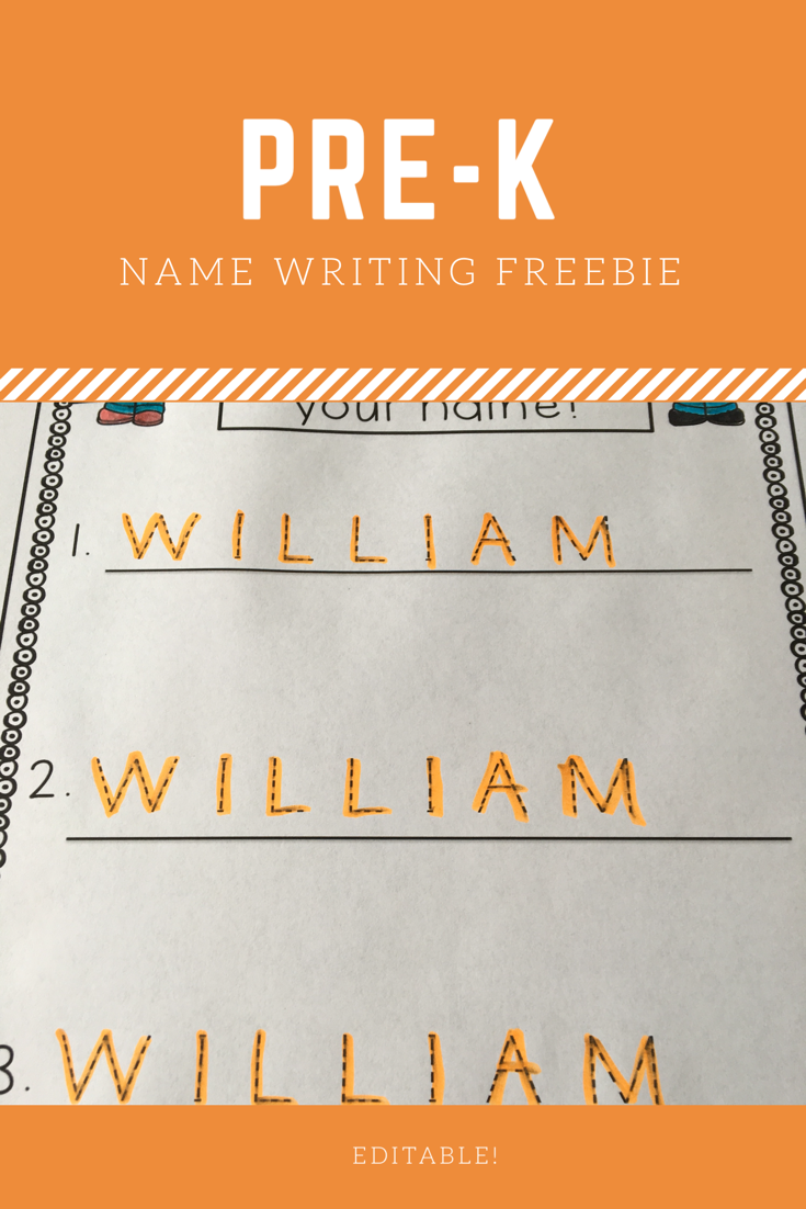 Editable Name Tracing Practice Freebie | Name Writing