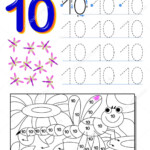 Educational Page Kids Number Printable Worksheet Children