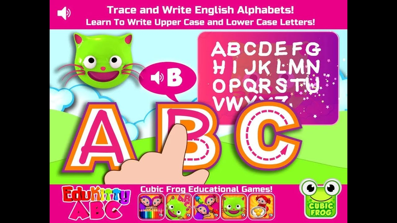 """Edukitty Abc! Letter Tracing """"educational Brain Games"""" Android Kids Games  Video"""