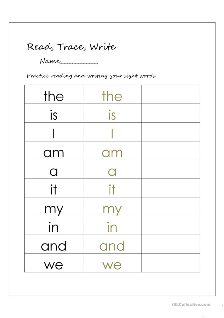 English Esl Trace Worksheets - Most Downloaded (44 Results)