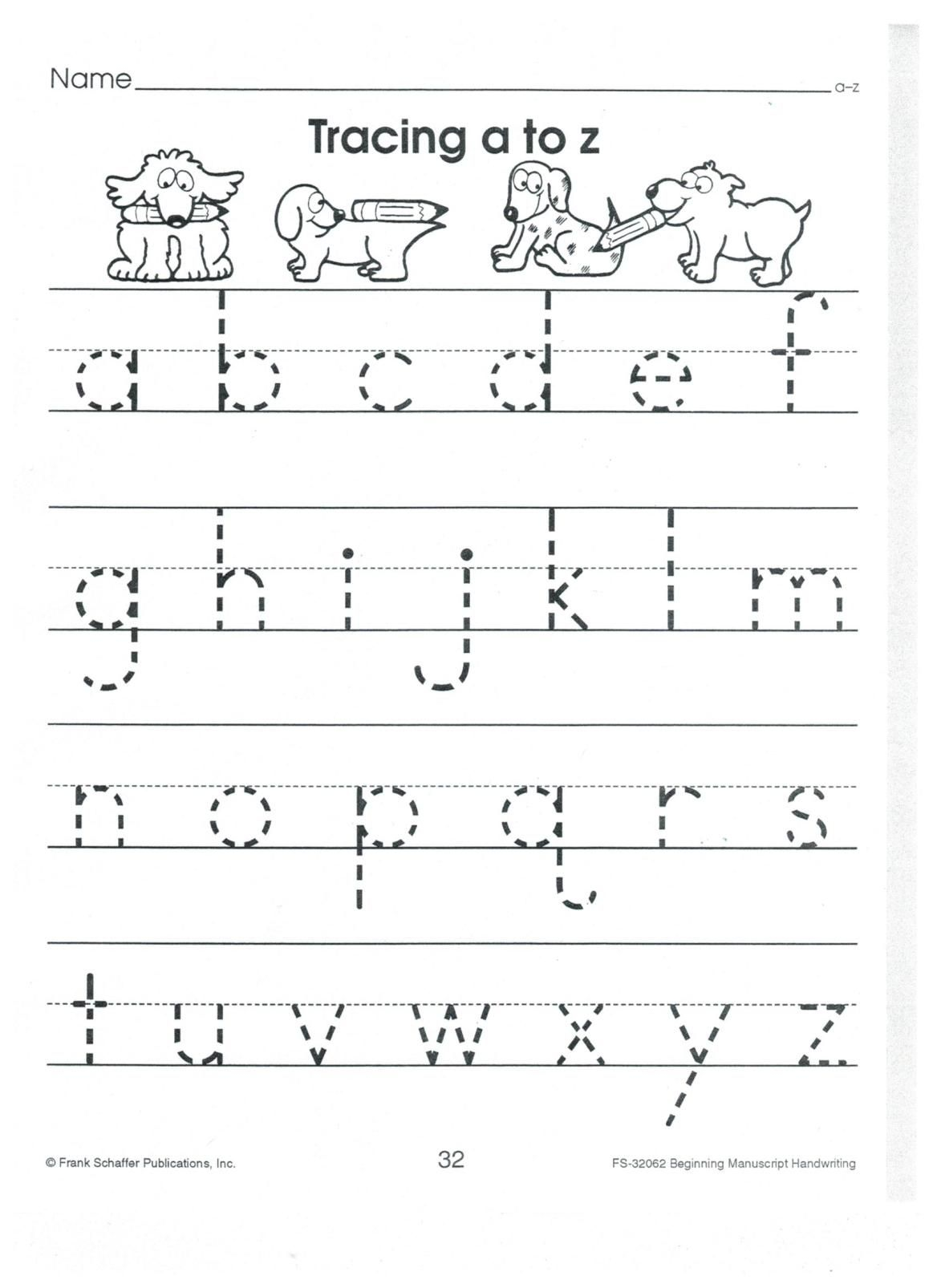 English Print Abc A To Z Lower Case 001 | Alphabet Tracing
