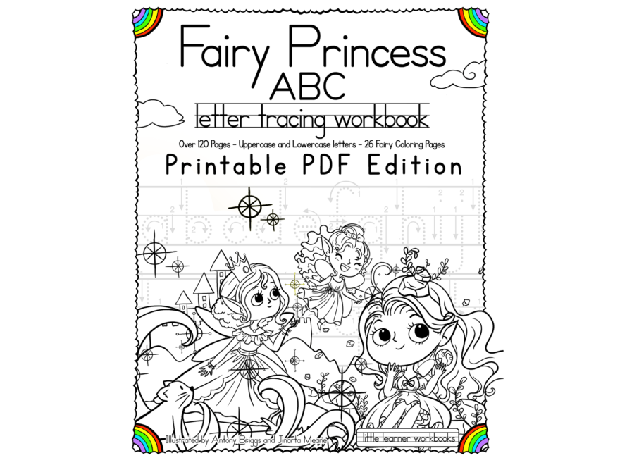Fairy Princess Abc Letter Tracing Workbook – Printable Pdf