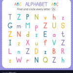 Find And Circle Every Letter Z Worksheet For