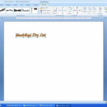Flip Or Reverse Text Using Microsoft Word