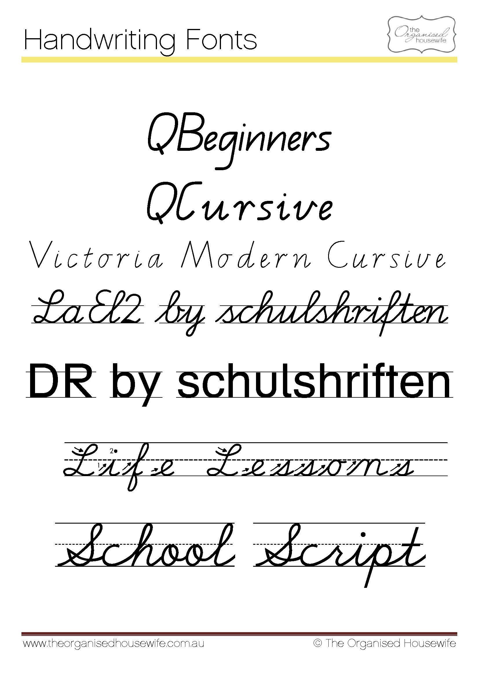 Fonts To Help Kids To Write + Qld Cursive | Teaching Cursive