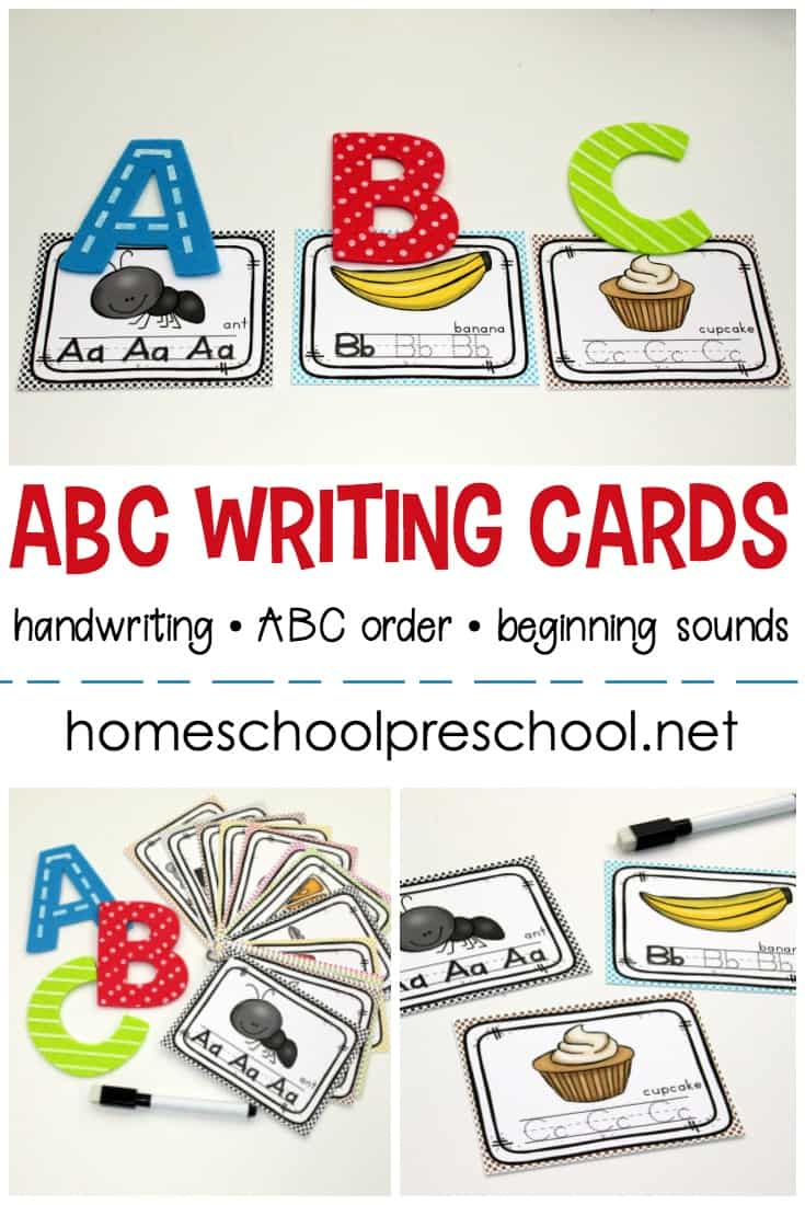Free Clip And Go Printable Alphabet Writing Cards