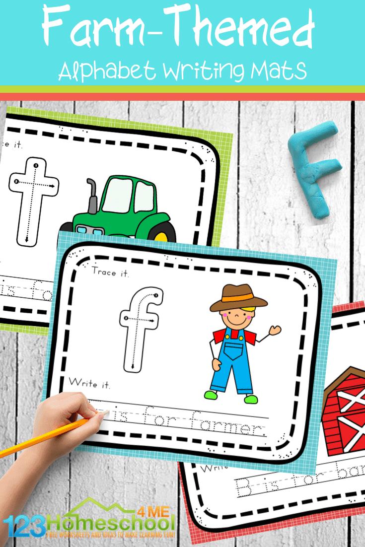 Free Farm Alphabet Mats