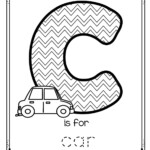 Free Is For Car Trace And Color Printable Tracing The Letter