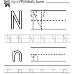 Free Letter N Alphabet Learning Worksheet For Preschool