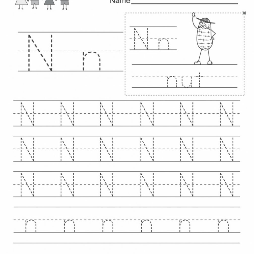 Free Letter N Worksheets Pictures - Alphabet Free Preschool