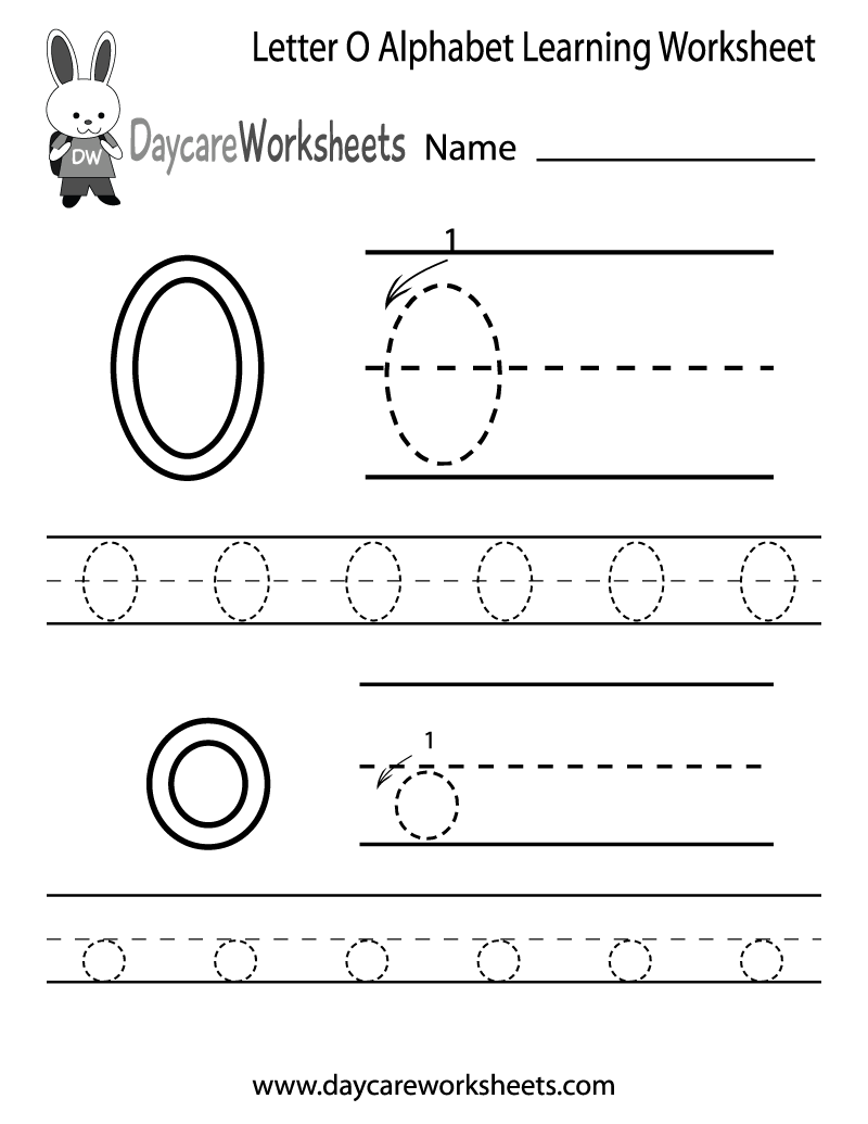 Free Letter O Alphabet Learning Worksheet For Preschool