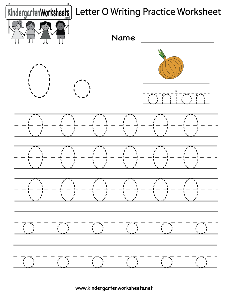 Free Letter O Worksheets For Preschool | Writing Practice
