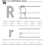 Free Letter R Alphabet Learning Worksheet For Preschool