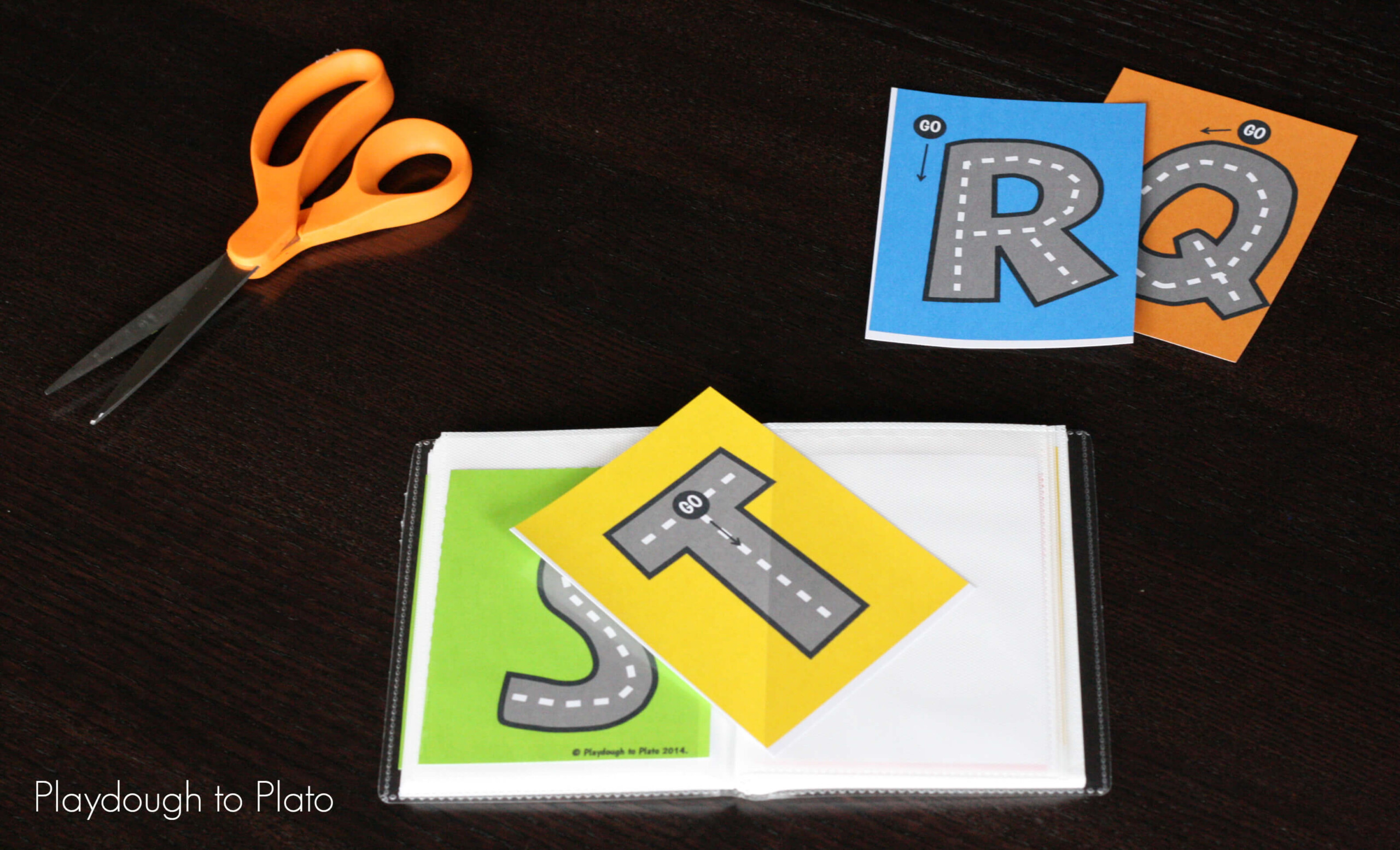 Free Letter Tracing Roads - Playdough To Plato