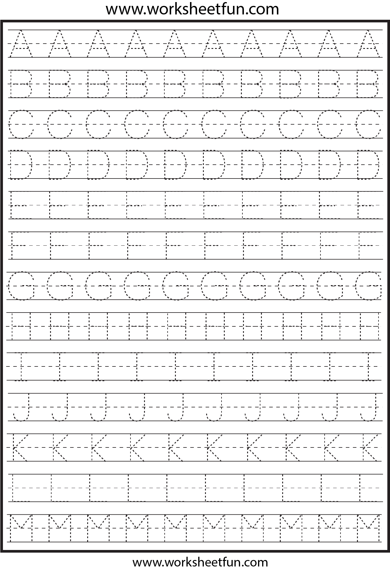 Free Letter Tracing Worksheets. Printable Letter C Tracing