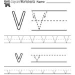 Free Letter V Alphabet Learning Worksheet For Preschool