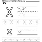 Free Letter X Alphabet Learning Worksheet For Preschool
