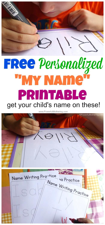 Free Name Tracing Worksheet Printable + Font Choices
