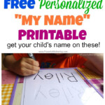 Free Name Tracing Worksheet Printable + Font Choices