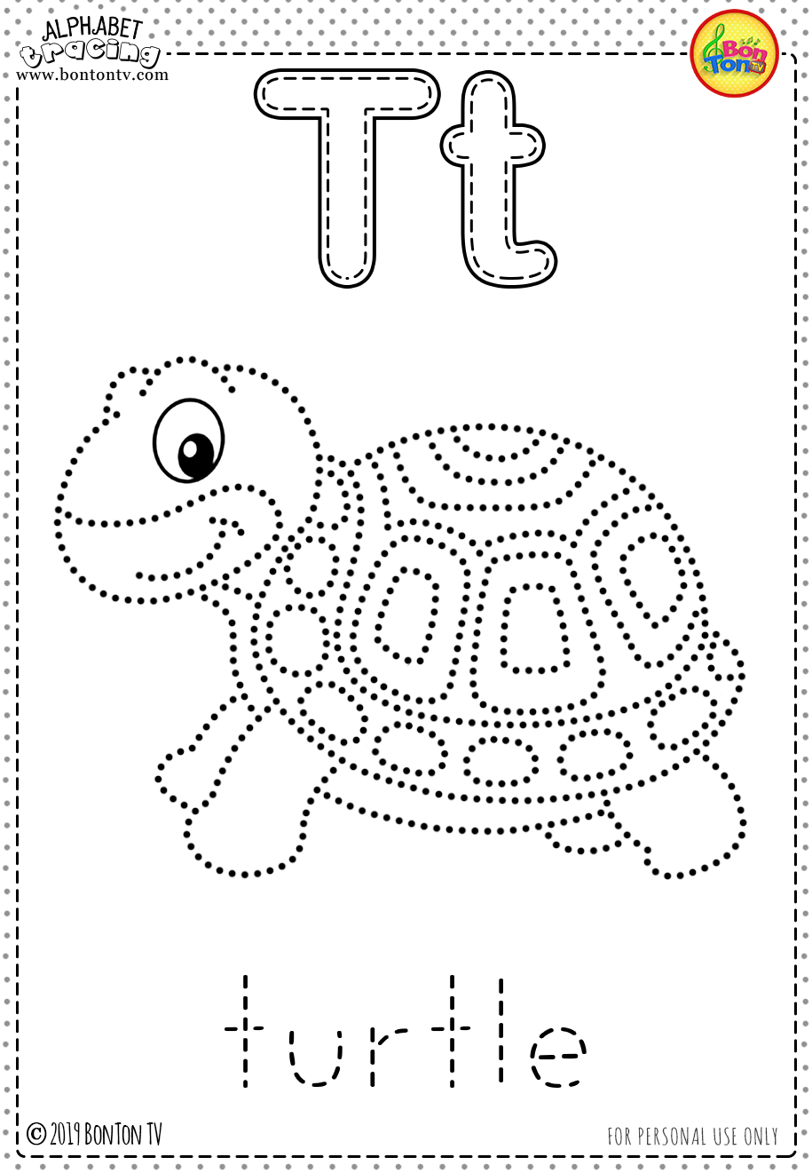 Free Preschool Printables - Alphabet Tracing And Coloring
