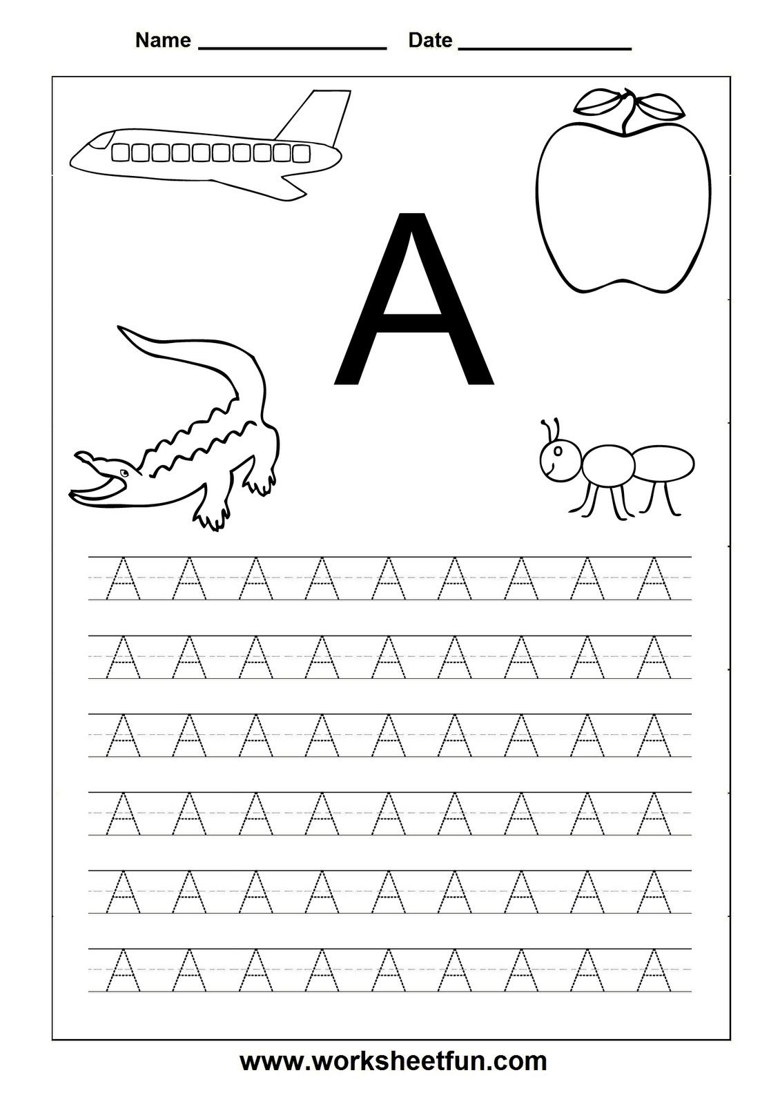 Free Printable Alphabet Tracers |  Printable Page Tags