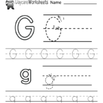 Free Printable Letter G Alphabet Learning Worksheet For