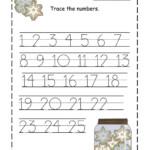 Free Printable Preschool Worksheets Tracing Numbers - Clover