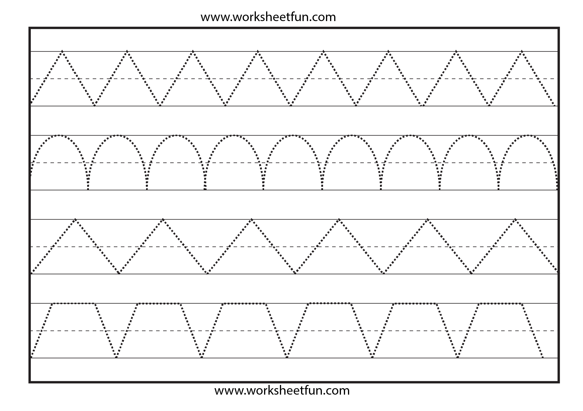 Free Printable Tracing Worksheets – Prnt