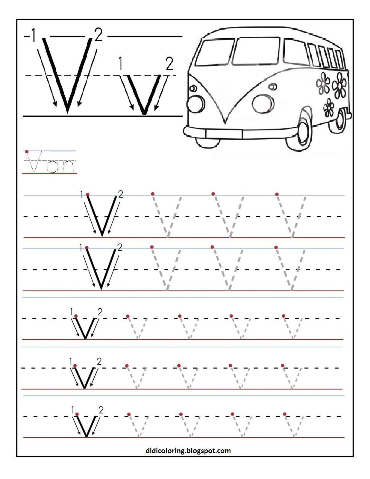 Free Printable Worksheet Letter V For Your Child To Learn