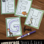 Free Uppercase Tracing Letters With Animals A-Z
