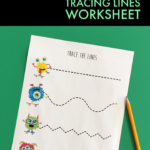 Freebie Monster Theme Fine Motor Worksheet -