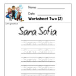 Frozen Penmanship Name Tracing Worksheets, Books