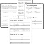Full Name Practice Worksheets-Custom