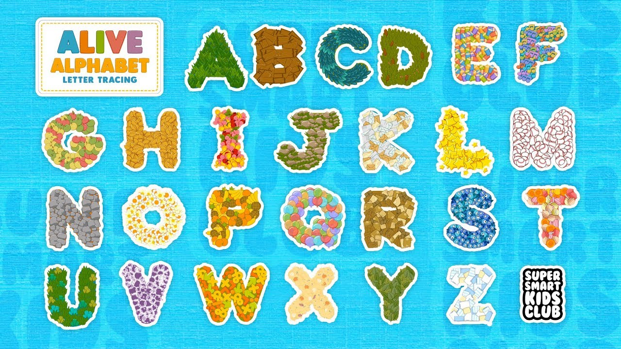 Fun And Colourful Letter Tracing With Alive Alphabet