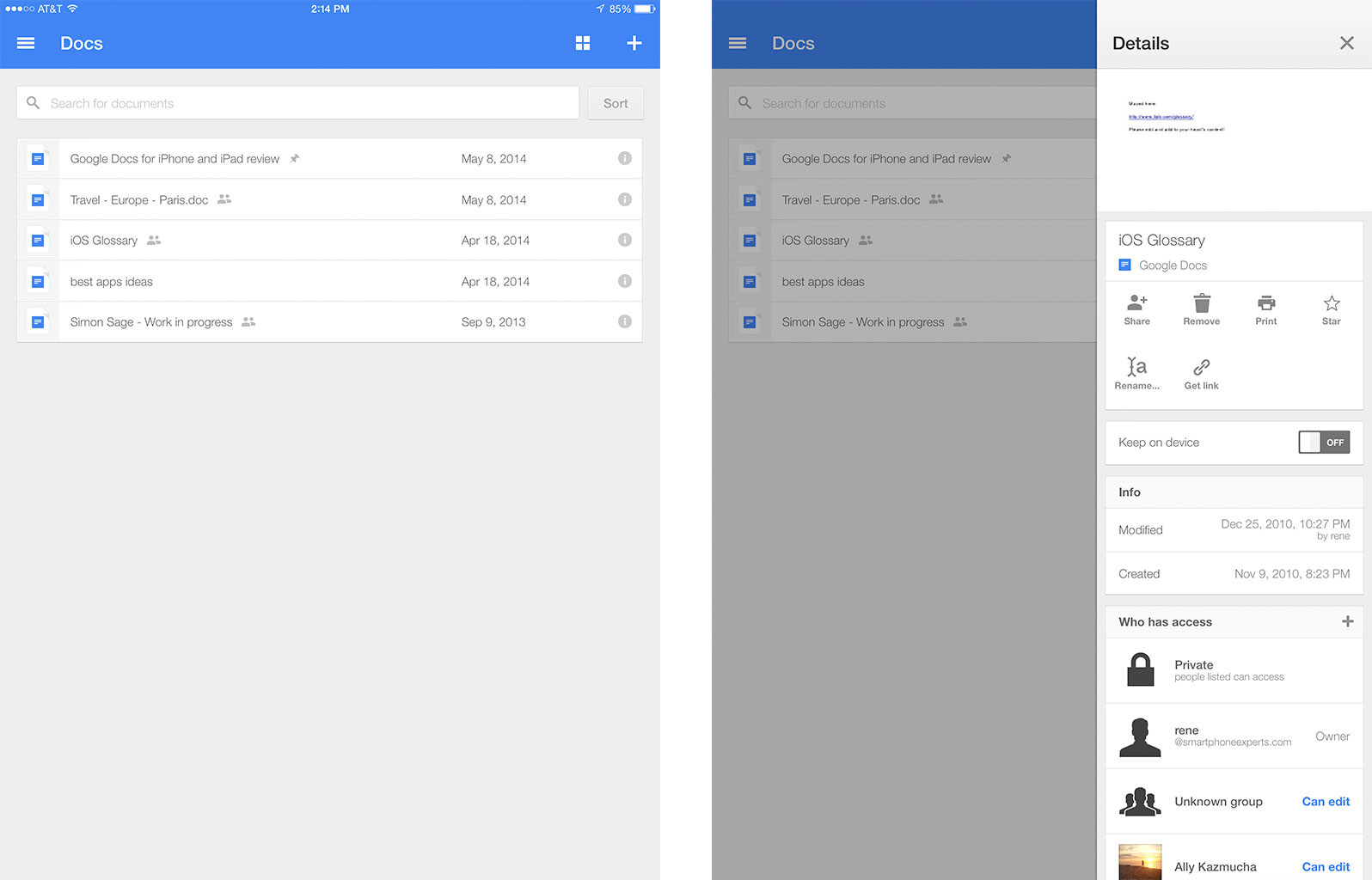 Google Docs For Iphone And Ipad Review: It's Just As Bad As