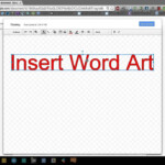 Google Docs - Insert Word Art