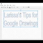 Google Drawings 101 - Wordart & Shadowing Letters