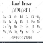 Hand Drawn Font Madeink Stock Vector (Royalty Free