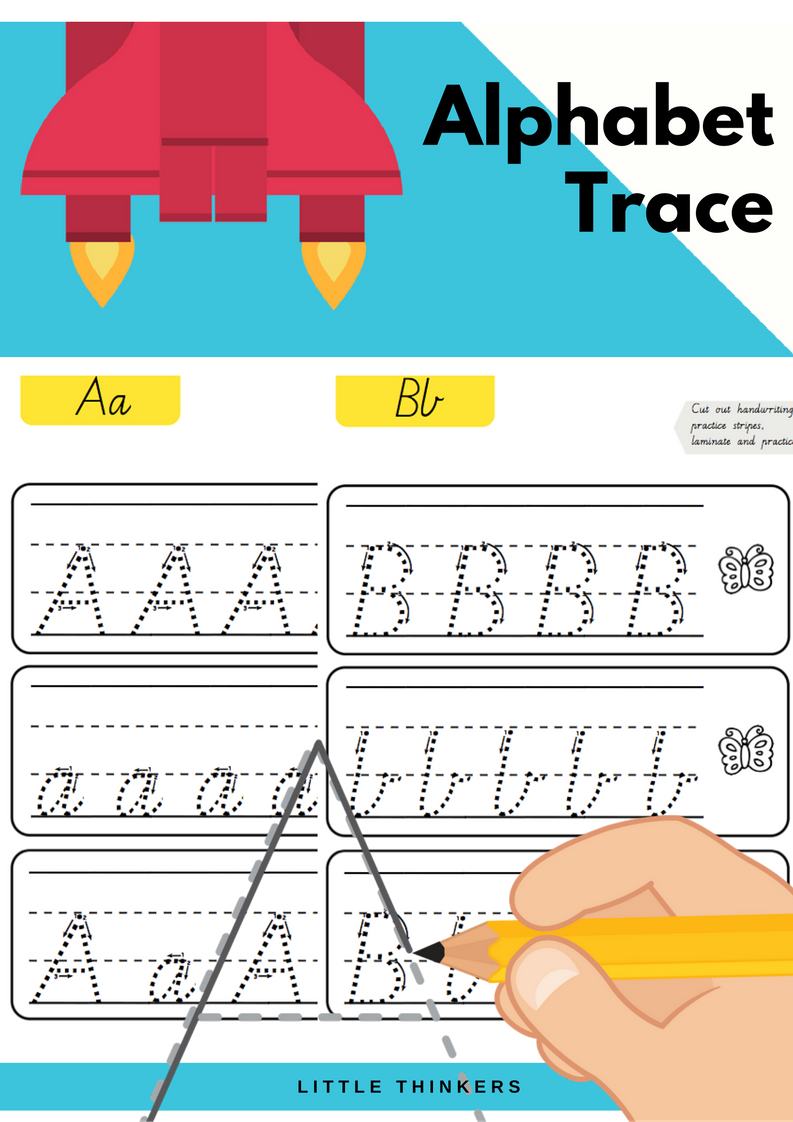 Handwriting Practice Strips - Victorian Modern Cursive