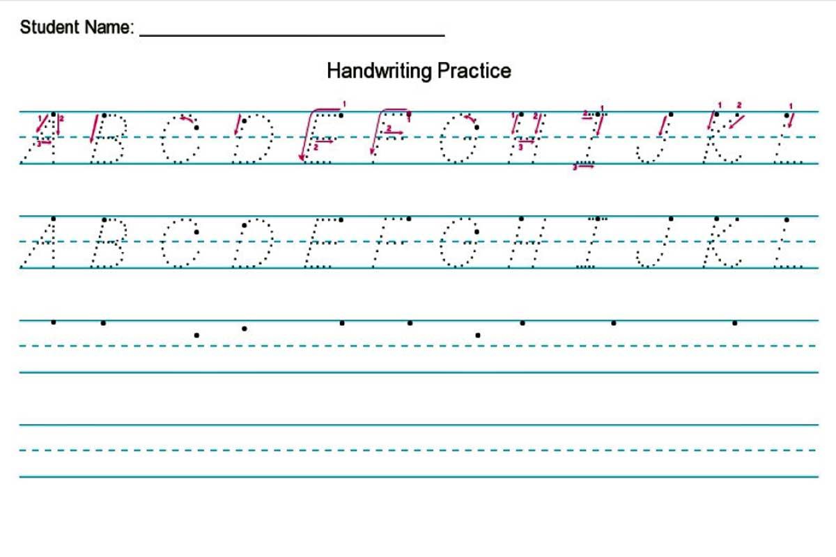 Handwriting Worksheet Creator {Free} — Diy Homeschooler